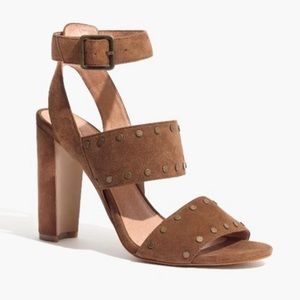 Madewell Brown Suede Studded Octavia Sandal